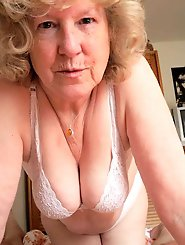 Libidinous older whores revealing their breasts