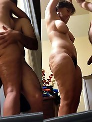 Mature businesswoman get naked