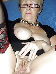Curvy mature females covered with jizz