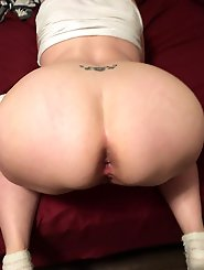 Chubby older girlfriend gets their twat drilled
