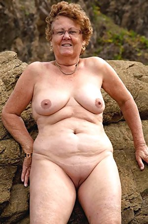 Slightly saggy boobs of the mature ladies