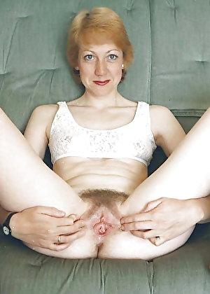 Shocking mature mademoiselle with warm slit