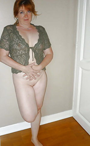 Fantastic mature ladies posing naked outdoors
