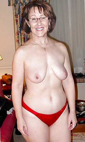 Nasty older prostitute playing herself